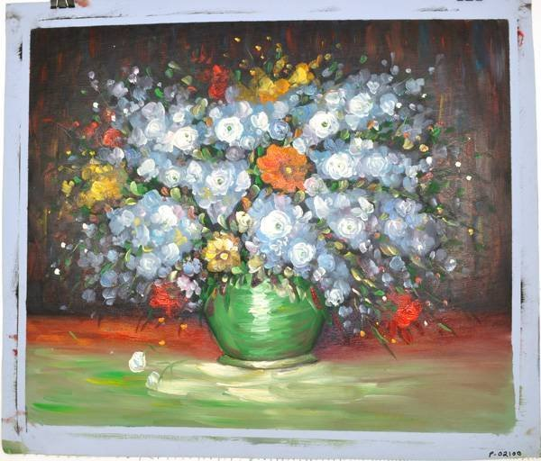 Oil Painting - Mixed Flowers in a Vase- 23x27