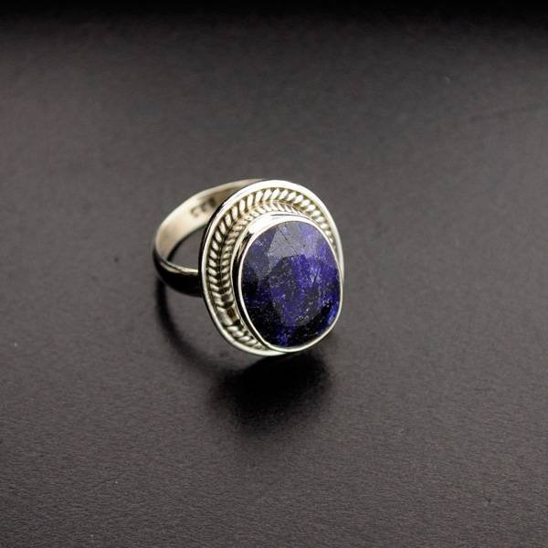 APP: 1.1k 6.81CT Blue Sapphire & Sterling Silver Ring
