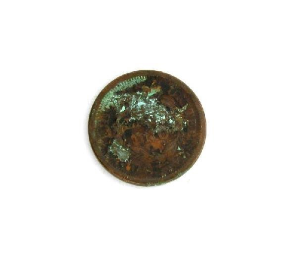 1851 Busted Liberty one Cent Coin - Investment - 2