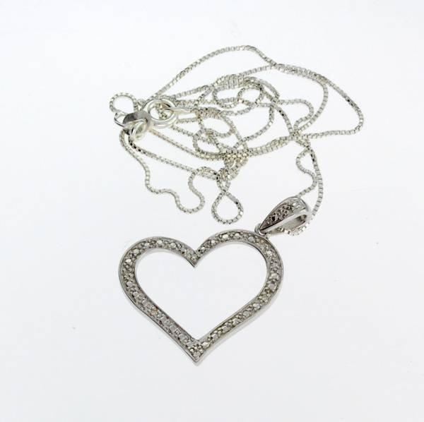 APP: 0.2k 0.04CT Diamond & Sterling Silver Necklace