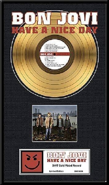 "BON JOVI ""Have  a Nice Day"" Gold LP"