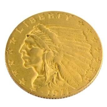 1911  $2.5 U.S. Indian Head Gold Coin - Investment