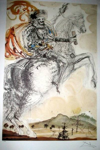 SALVADOR DALI El Cid Print, Limited Edition