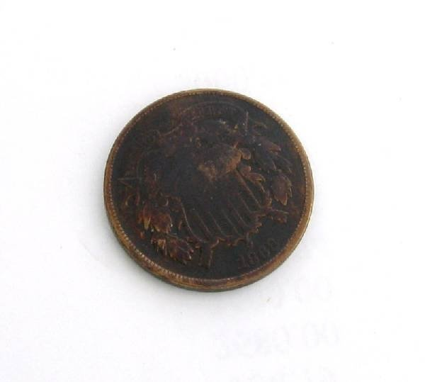 1868 U.S. Shield Two Cent Coin - Investment