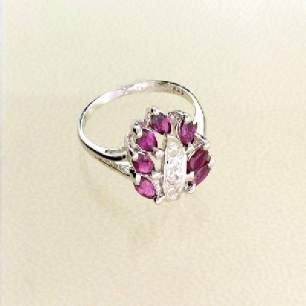 APP: 1.4k 2.13CT Ruby & Sterling Silver Ring