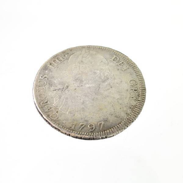 1797 Eight Reales First Silver Dollar Coin - Investment