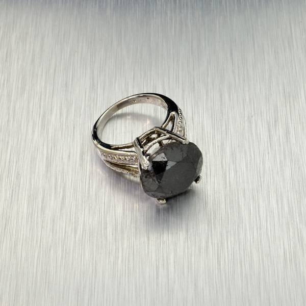 APP: 23k 14kt White Gold, 14k Diamond Ring