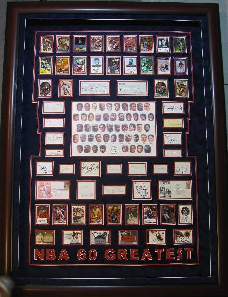 NBA 60 Greatest Shadow Box - Authentic Signatures