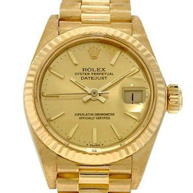 Ladies Rolex Oyster Perpetual Datejust Gold Watch