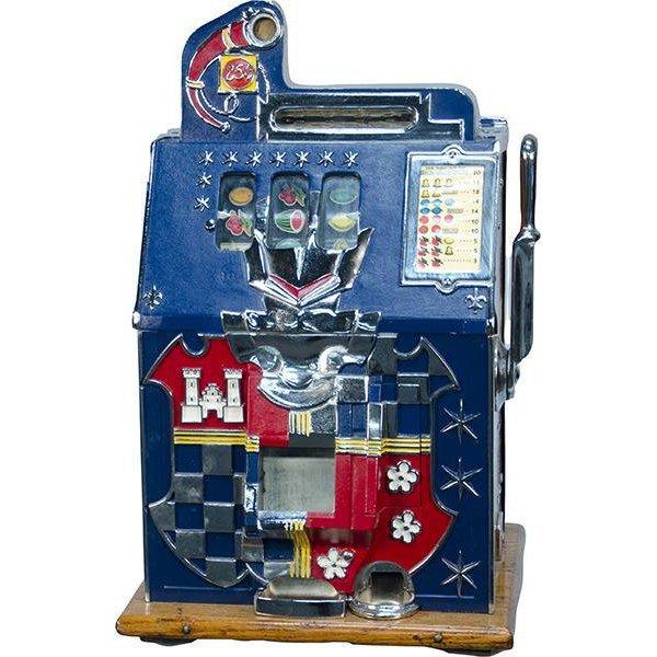 25 Cent Mills Novelty Castle Front Slot Machine c1933