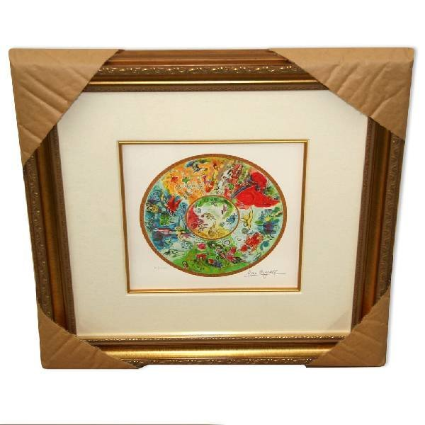Chagall 'Paris Opera Ceiling' Framed Giclee-Ltd Edn
