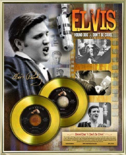 "ELVIS PRESLEY ""Hound Dog/Don't Be Cruel"" Gold 45's"