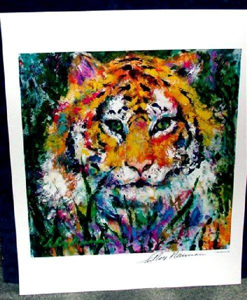 Hand Signed LeRoy Neiman: Tiger