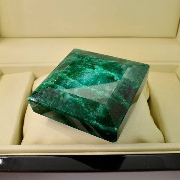 APP: 46k 1,313.40CT Square Cut Emerald Gemstone