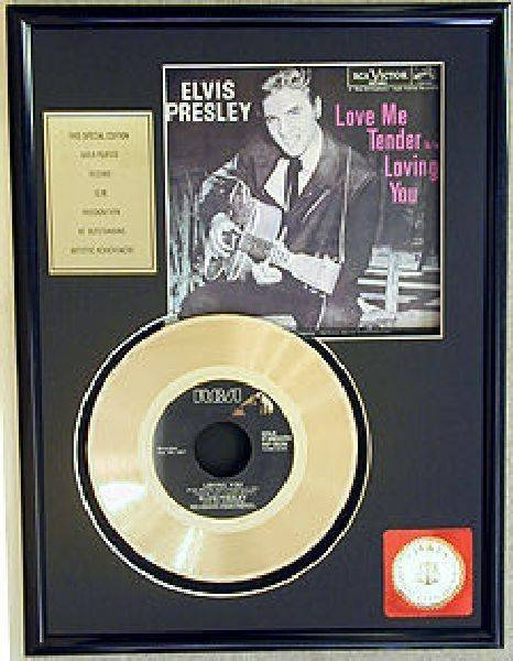 "ELVIS PRESLEY ""Love Me Tender"" Gold Record"
