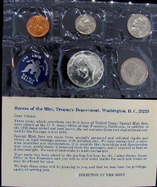 1965 U.S. Uncirculated Mint Set Coin - Investment