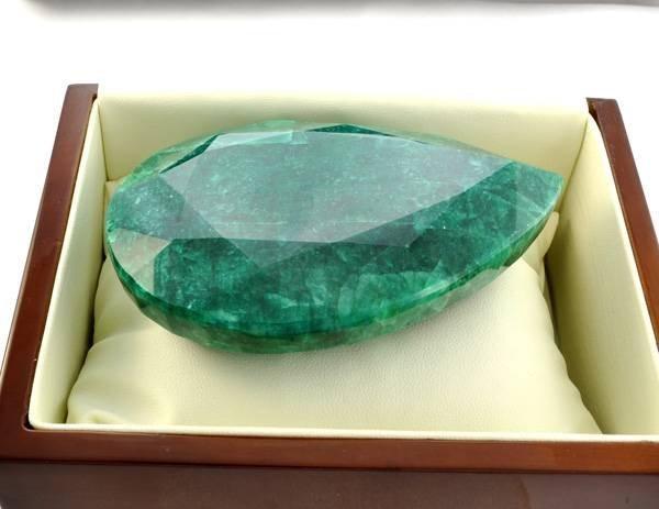 APP: 43.2k 1,233.05CT Pear Cut Emerald Gemstone