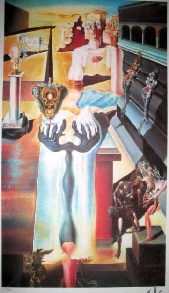 SALVADOR DALI Invisible Man Print, Limited Edition