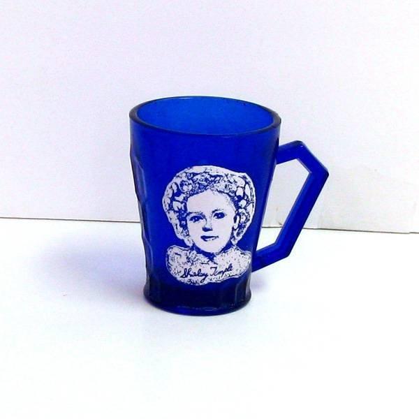 Shirley Temple- Blue Glass Mug