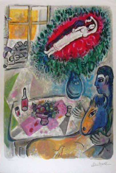 26: Marc Chagall - Reverie - Lithograph