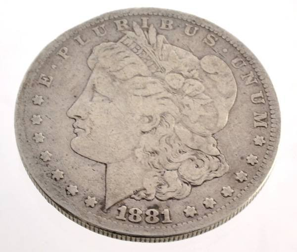 1881-S U.S. Morgan Silver Dollar Coin - Investment