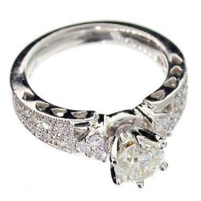 APP: 8.6k 14 kt. White Gold, 1.31CT Diamond Ring