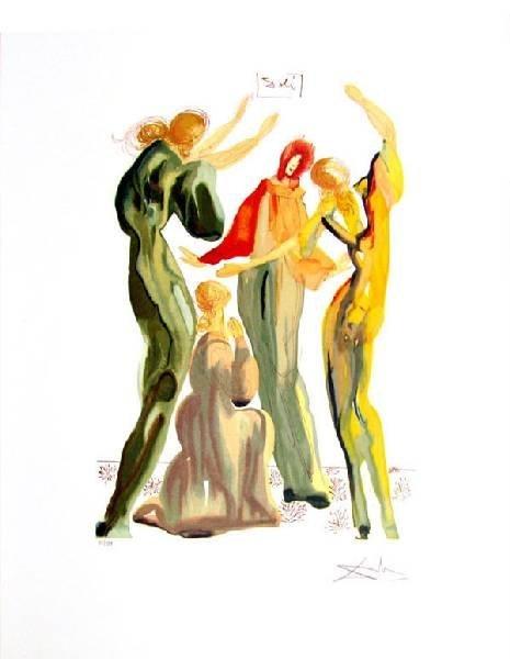 SALVADOR DALI La Danse Print, Limited Edition