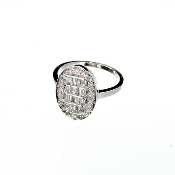 APP: 4k 14kt White Gold, 0.75CT Mixed Cut Diamond Ring