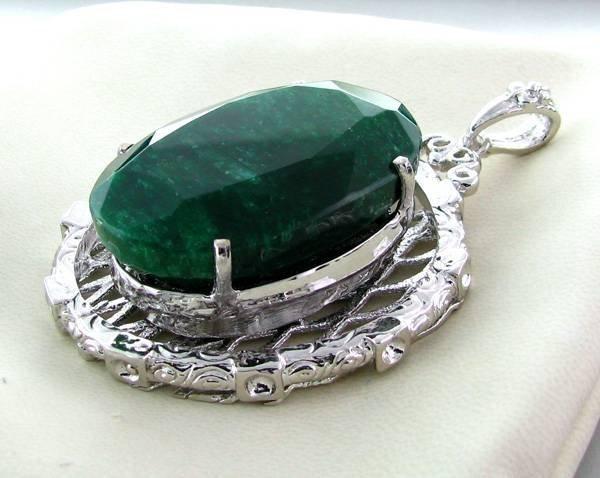 APP: 16k 111.80CT Emerald & Sterling Silver Pendant