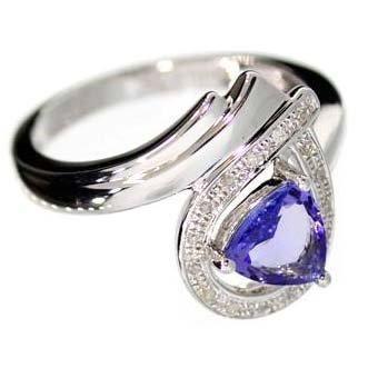 APP: 2k 18kt Gold & Silver, Tanzanite & Diamonds Ring