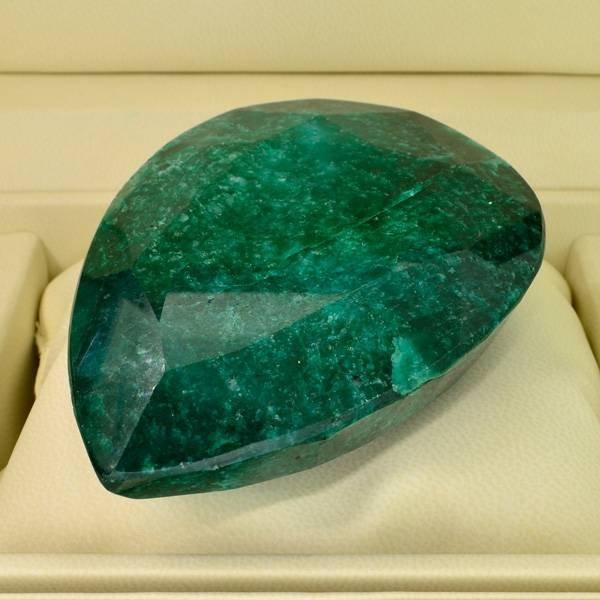 APP: 46.4k 1,326.70CT Pear Cut Emerald Gemstone