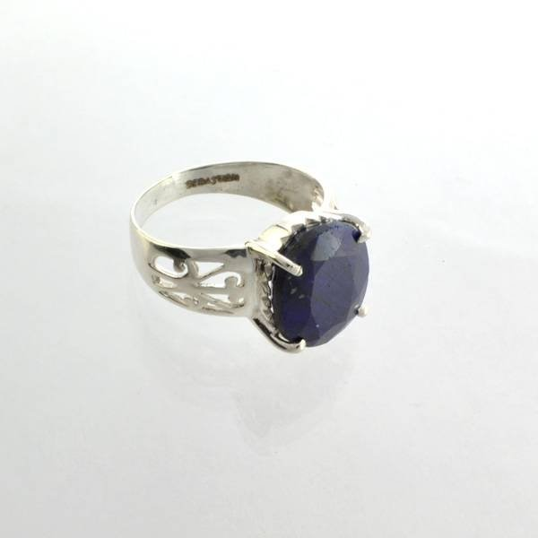APP: 2k Sebastian 6CT  Oval Cut Sapphire & Silver Ring
