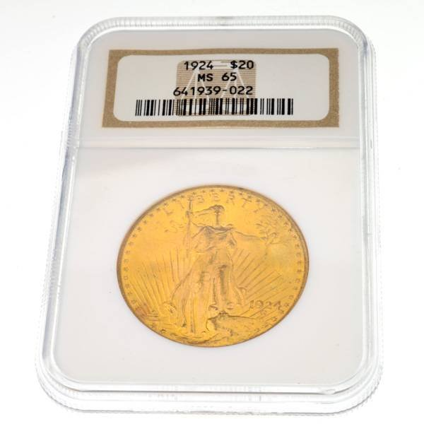 1924 $20 U.S Saint Gaudens Gold Coin - Investment
