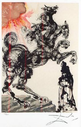 SALVADOR DALI Cerebus Mini Print, Limited Edition
