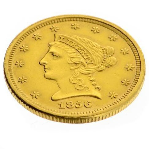 1856 $2.5 US Liberty Head Type Gold Coin - Investment