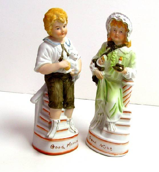 Good Morning & Night Pair 10in Figurines
