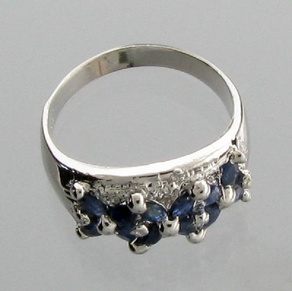 APP: 1k 1CT  Marquise Cut Sapphire & Sterl Silver Ring