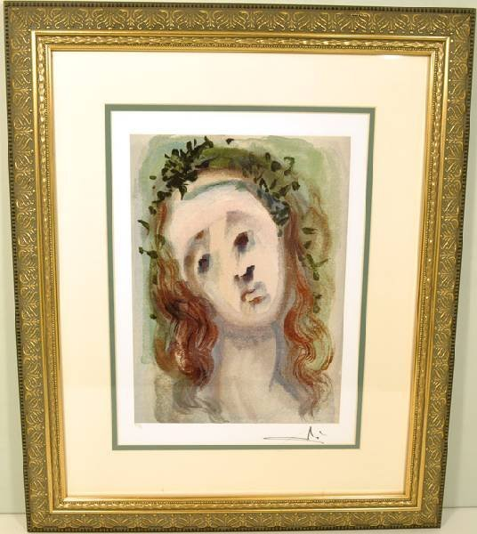 "SALVADOR DALI ""The Face Of Virgil"" Museum Framed"