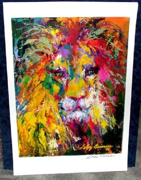 Hand Signed LeRoy Neiman: Lion