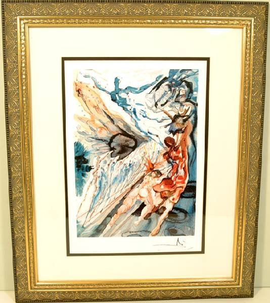 """SALVADOR DALI""""Encounter w/2 Groups Of Lusty Ones"""" Print"""