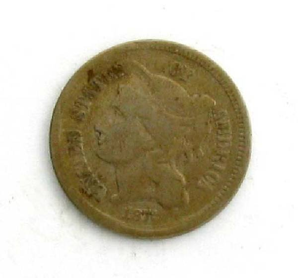1872 Three Cent (Nickel) Coin - Investment