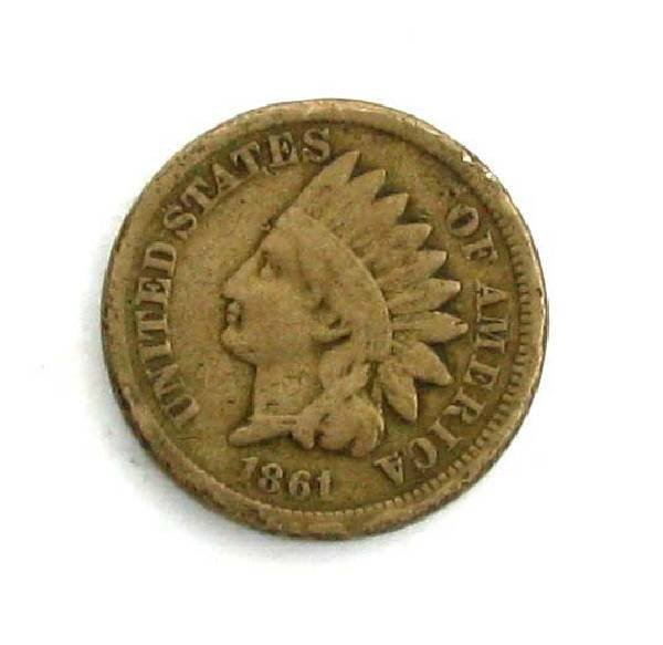 1861 c/n Indian Head One Cent Coin - Investment