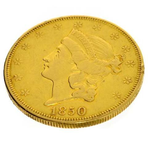 1850 $20 U.S Liberty Head Gold Coin - Investment