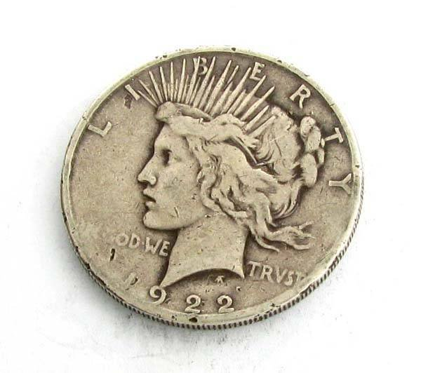 1922-S Peace Type Silver Dollar Coin - Investment