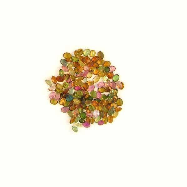 APP: 3k 21 CT Oval Cut, Multi-Colored Tourmaline Parcel