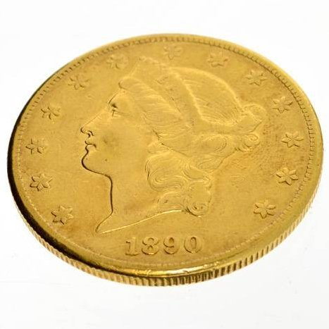 1890-CC $20 U.S Liberty Head Gold Coin - Investment