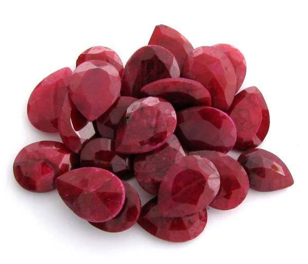 APP: 15.8k 100.55CT Pear Cut Ruby Parcel