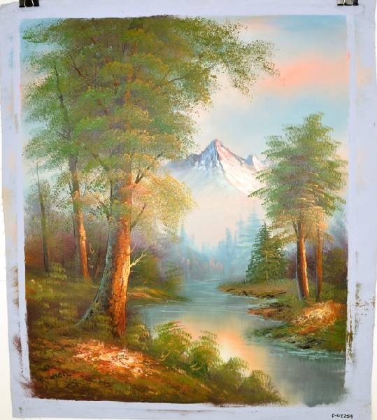 Oil Painting- Nature Mountain Landscape w/Lake