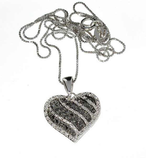 APP: 1k 0CT  Round Cut Black Diamond Silver Pendant