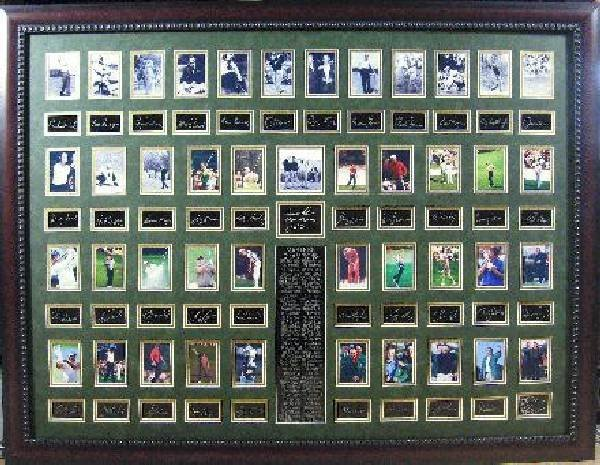 Golf Masters Plate Signed - 1934 to 2012